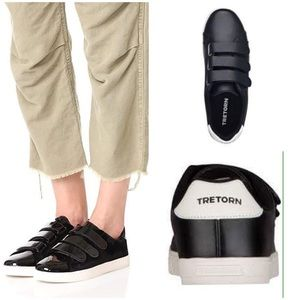 Tretorn Carry 2 Leather Velcro Low-Top Sneakers